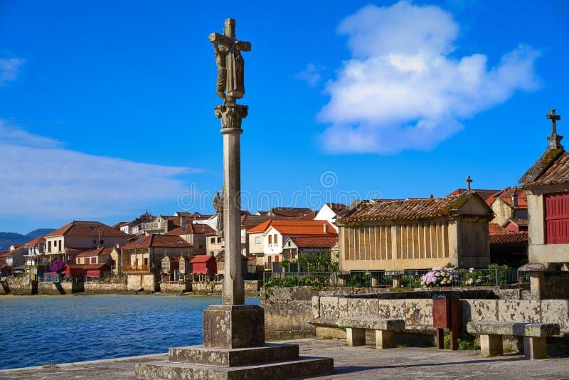 Combarro Cross village in Pontevedra Galicia Spain. Combarro cross Galician village in Pontevedra at Galicia Spain stock images