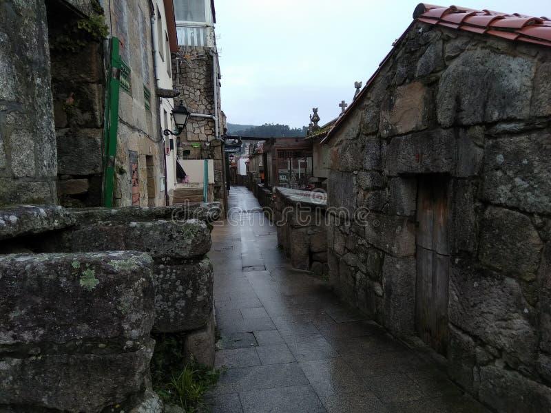 Combarro, un bel ONU de petite ville le nord si l'Espagne photographie stock libre de droits