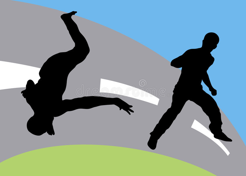 Combat 1 de danse de rue illustration stock