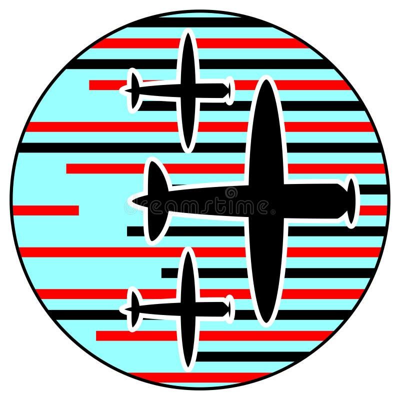 Combat aérien illustration stock