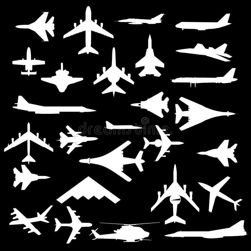 Combat aircraft. vector illustration