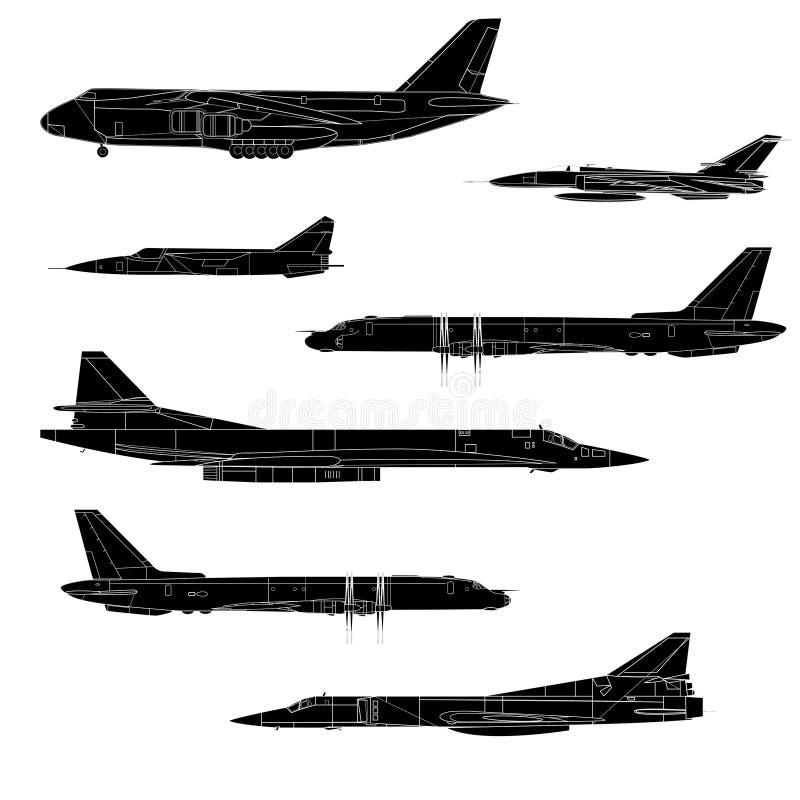 Combat aircraft. Team. stock illustration