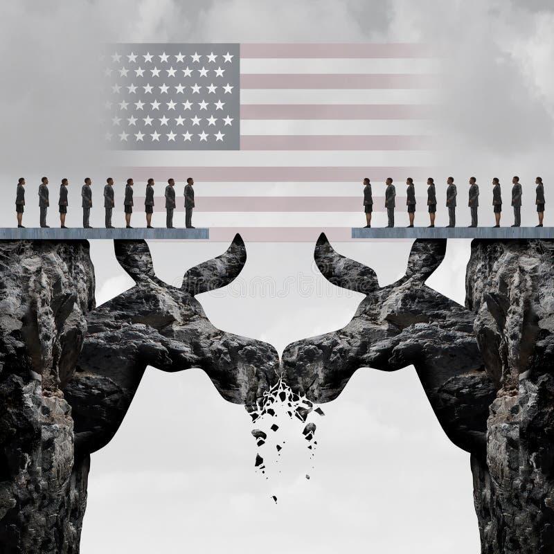 Combat américain Democratic d'élection illustration stock