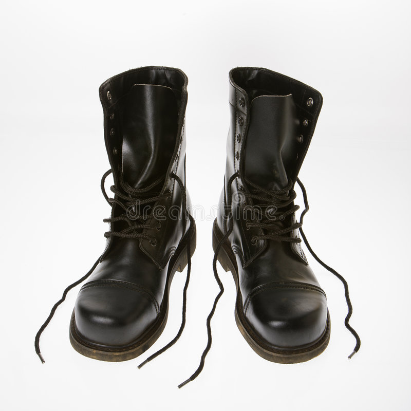 Free Combat Boots. Royalty Free Stock Images - 3532149