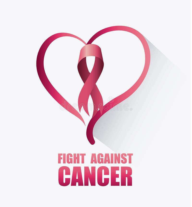 Combat contre la campagne de cancer du sein illustration de vecteur