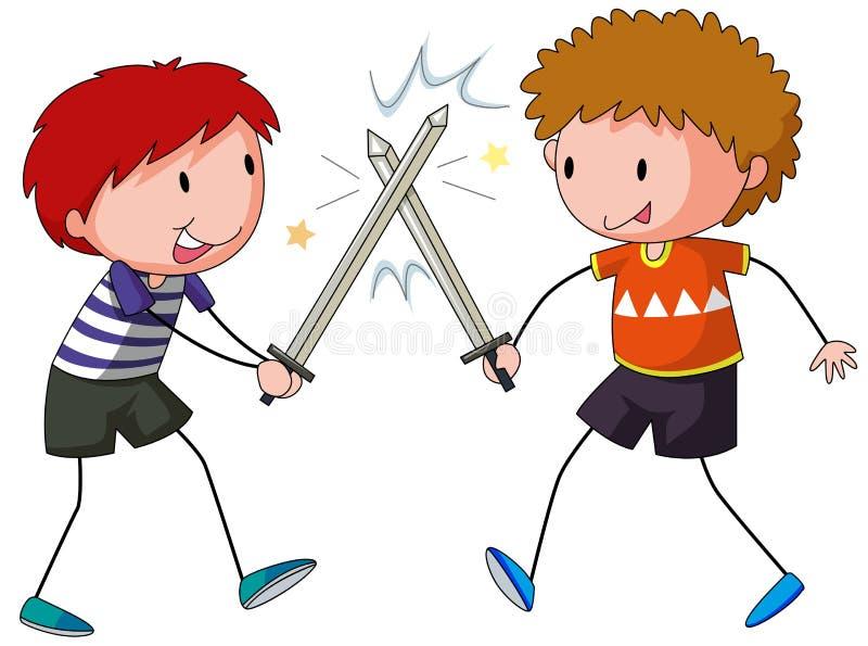 Combat d'épée illustration libre de droits