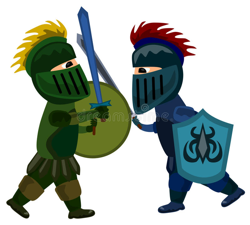 Combat d'épée de chevaliers illustration libre de droits