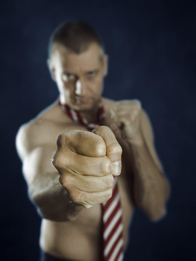 Combat d'homme d'affaires photos stock