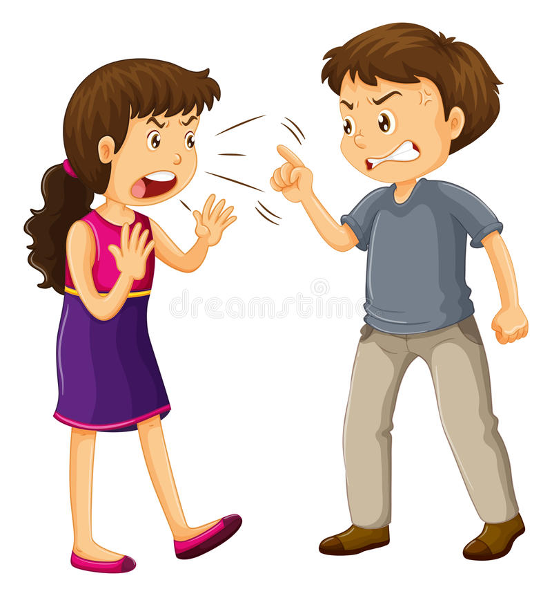Combat d'homme et de femme illustration de vecteur