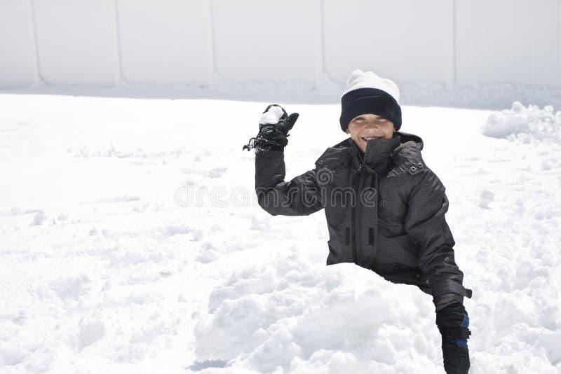 Combat de boule de neige photo libre de droits