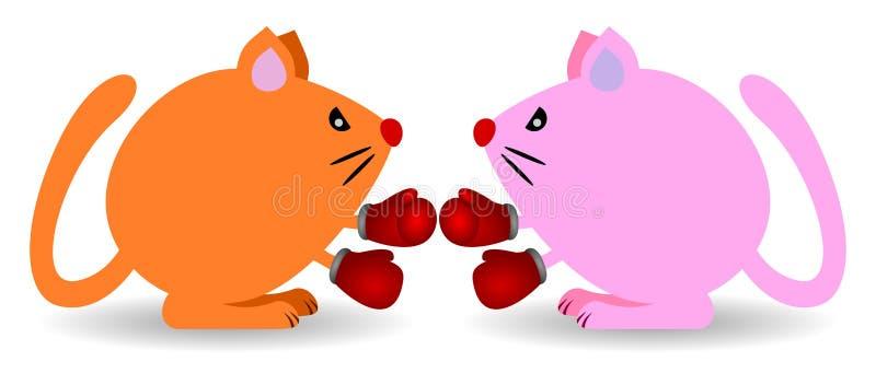 Combat de chat illustration libre de droits