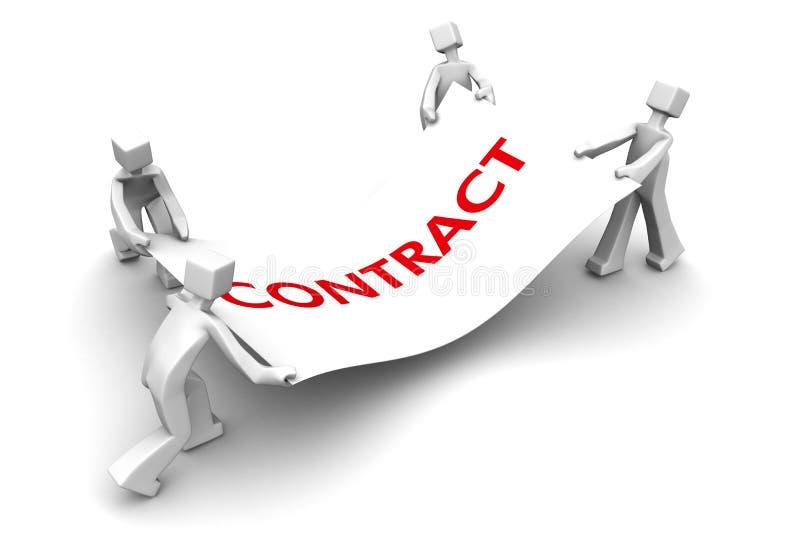 Combat de concurrent pour le contrat d'affaires illustration libre de droits