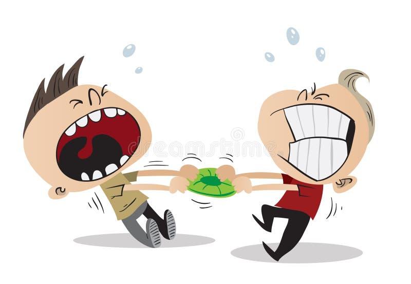 Combat de deux gosses illustration stock