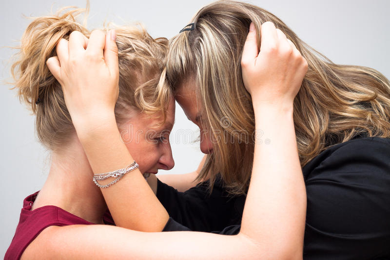 Combat de femmes photo stock