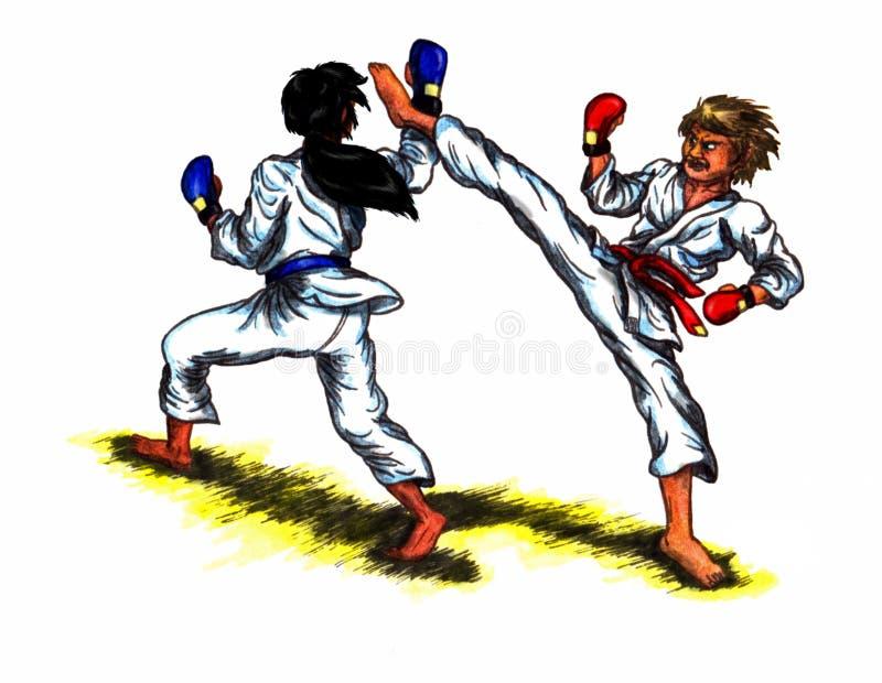Combat de karaté (2010) illustration stock