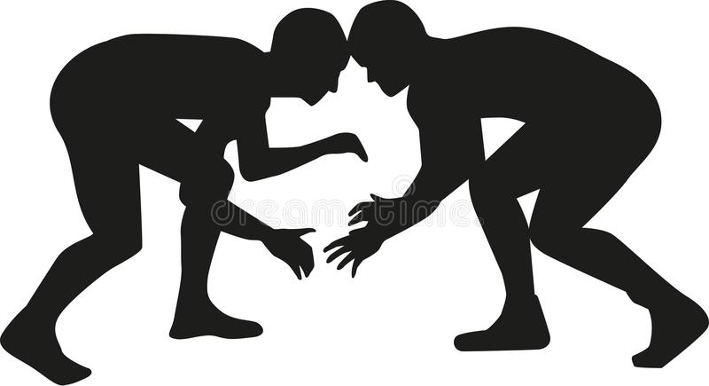 Combat de lutteur illustration stock