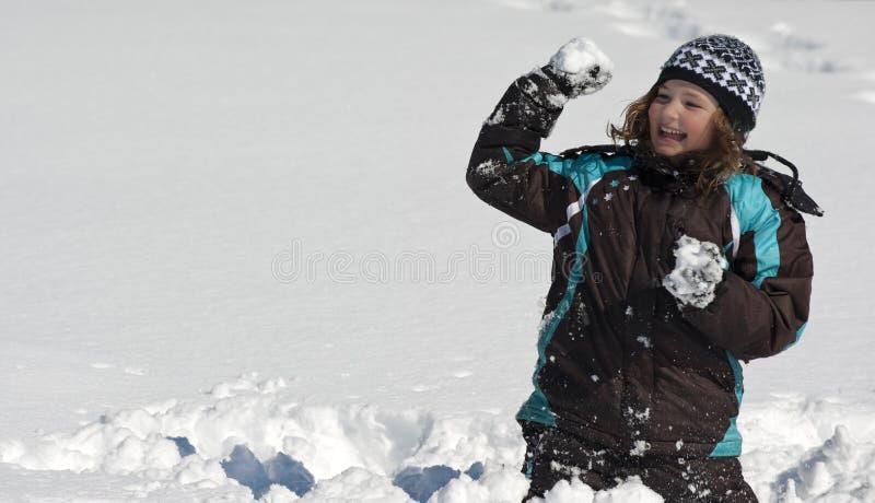 Combat de Snowball image libre de droits