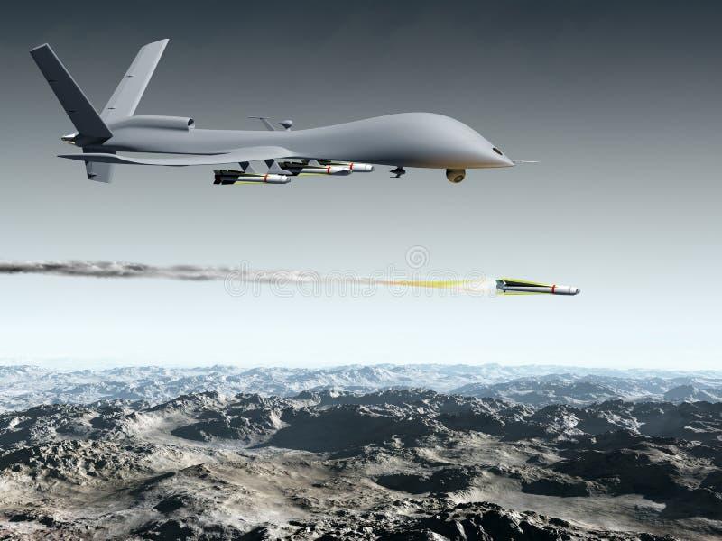 Combat Drone vector illustration
