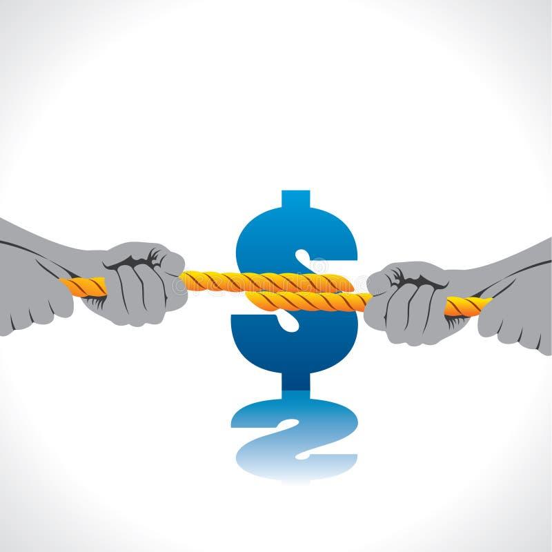 Combat pour l'argent illustration libre de droits