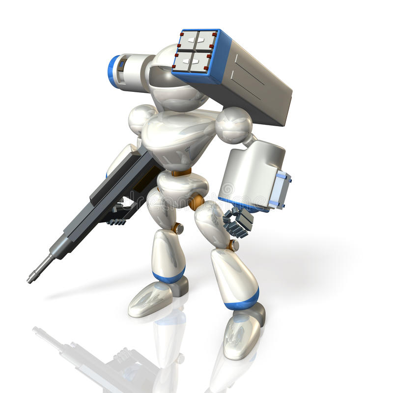 Download Combat Robot On Science Fiction Stock Photography - Image: 34198952
