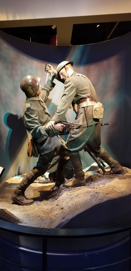 Combate corpo a corpo da Primeira Guerra Mundial imagens de stock royalty free
