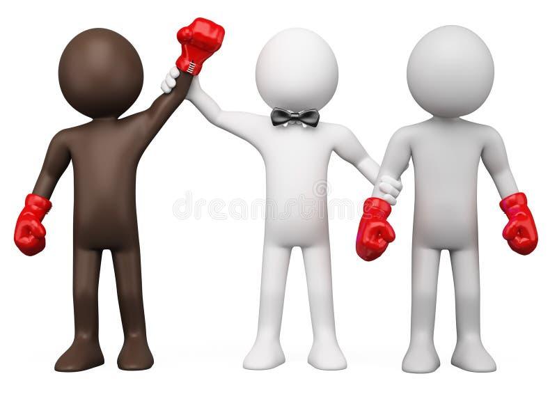 Combate de boxeo stock de ilustración