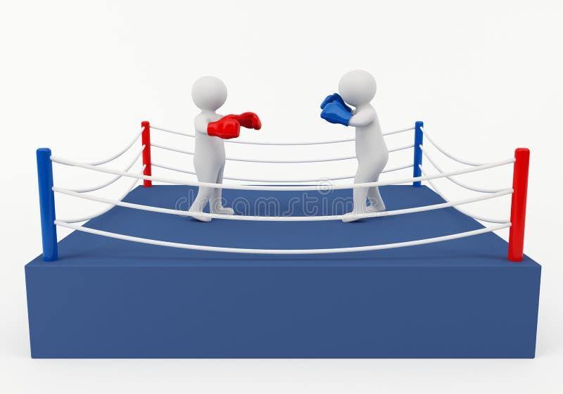 Combate de boxeo foto de archivo libre de regalías