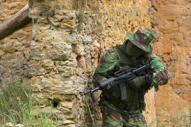Combate do treino militar foto de stock royalty free