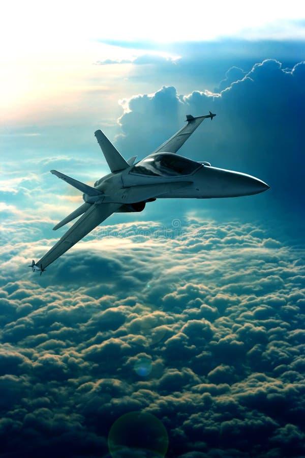 Combatiente de jet imagen de archivo libre de regalías