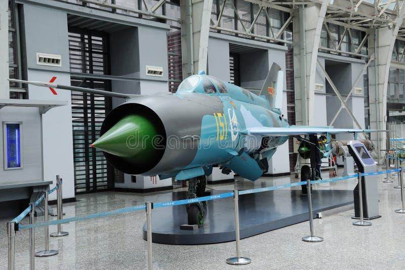 Combatiente de jet chino de F-7III foto de archivo
