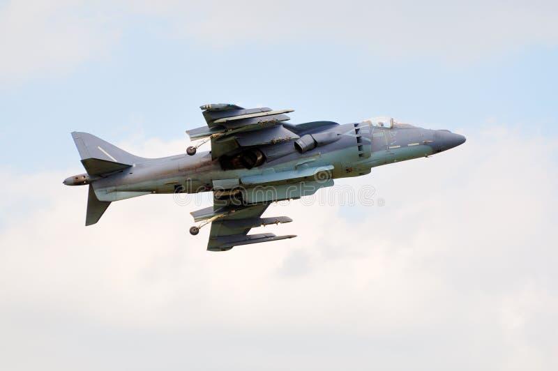 Combatiente de jet del corredor de cross de AV-8B imágenes de archivo libres de regalías