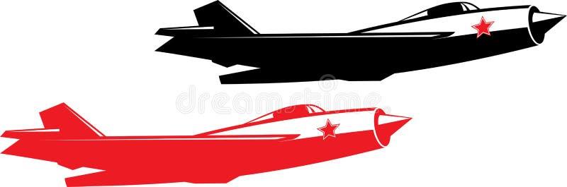 Combatiente de jet soviético ilustración del vector