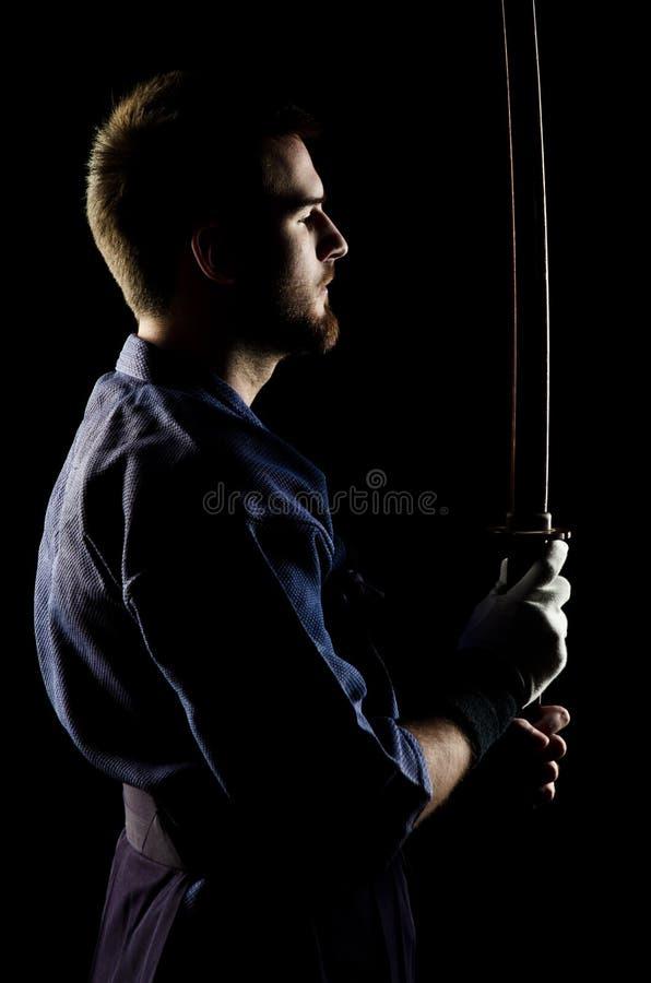 Combatiente de Kendo imagenes de archivo