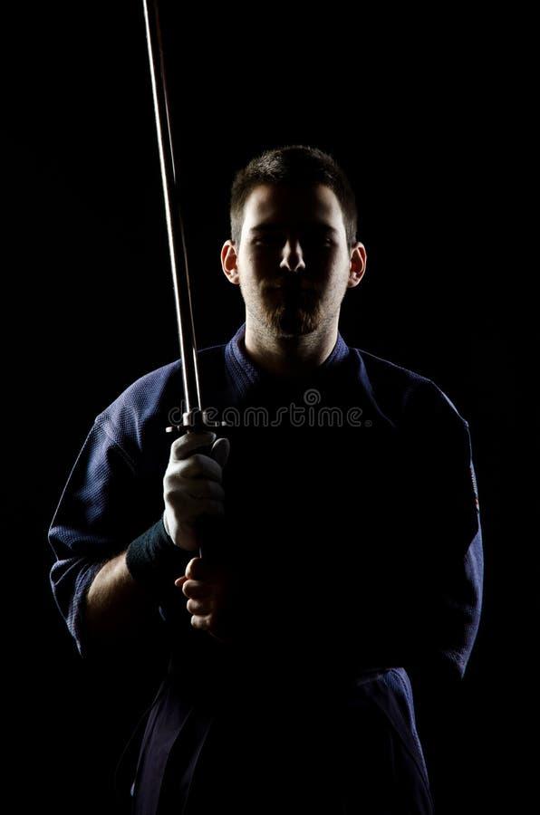 Combatiente de Kendo fotografía de archivo