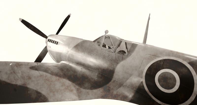 Combatiente de la era de la Segunda Guerra Mundial fotos de archivo