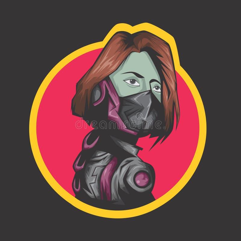 Combatiente moderno de las mujeres libre illustration