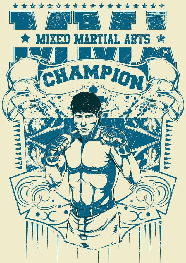 Combatiente tailandés de Muay libre illustration
