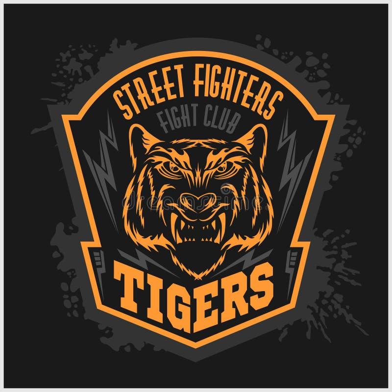 Combatientes de calle - emblema del club que lucha en oscuridad libre illustration