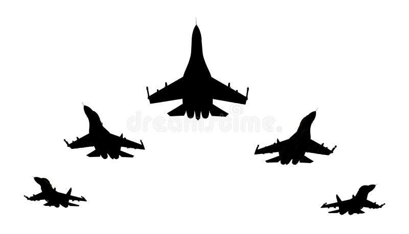 Combatientes de jet stock de ilustración