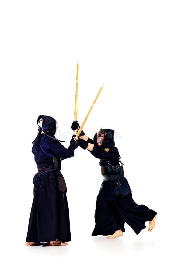 Combatientes de Kendo fotos de archivo