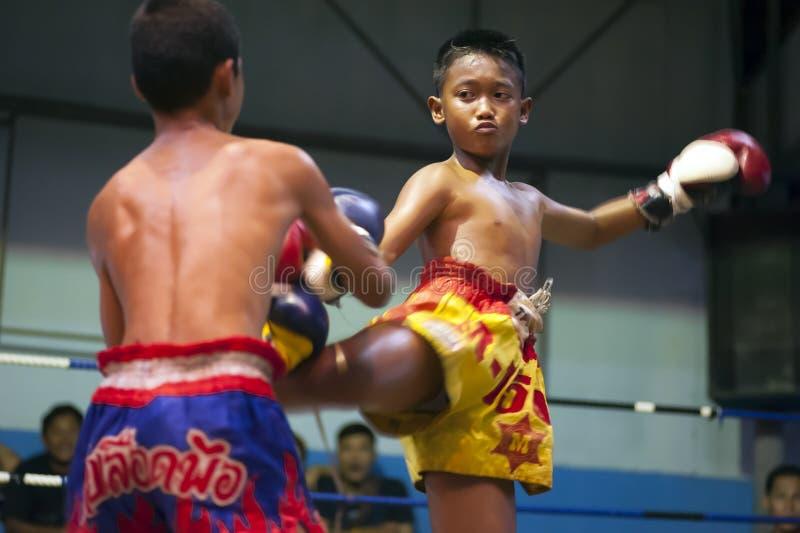 Combatientes tailandeses de Muay imágenes de archivo libres de regalías