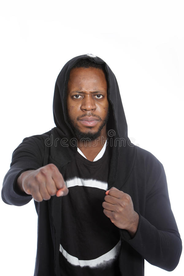 Download Combative African Man Making A Fist Stock Photo - Image: 35939368