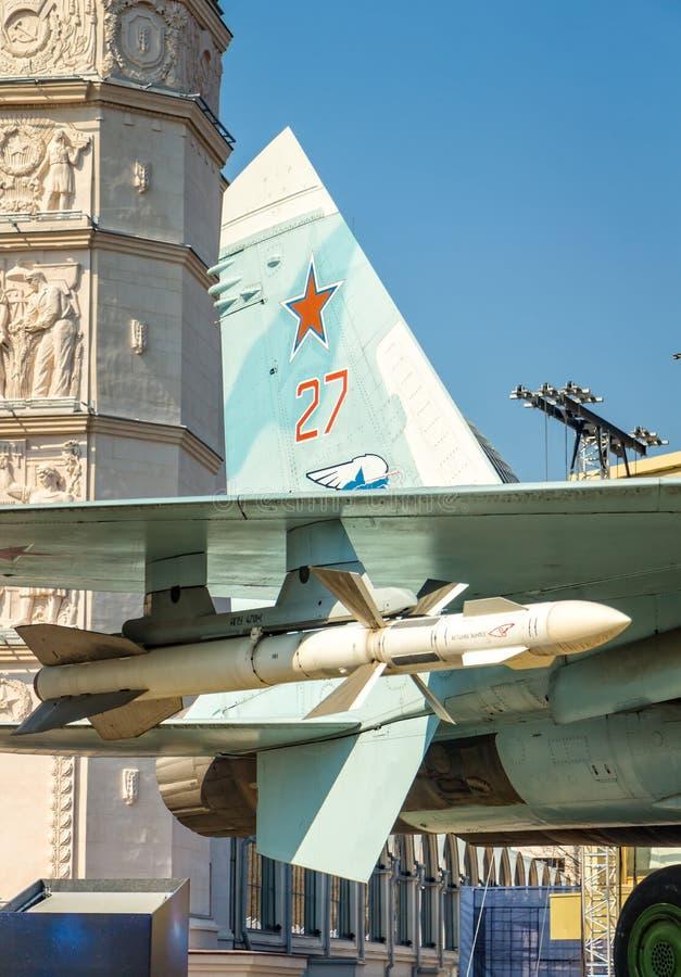 Combattant avec des armes de missile images libres de droits