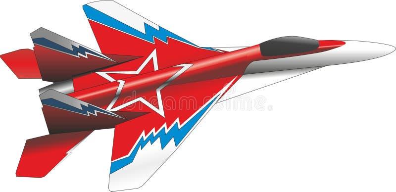 Combattant d'air illustration de vecteur