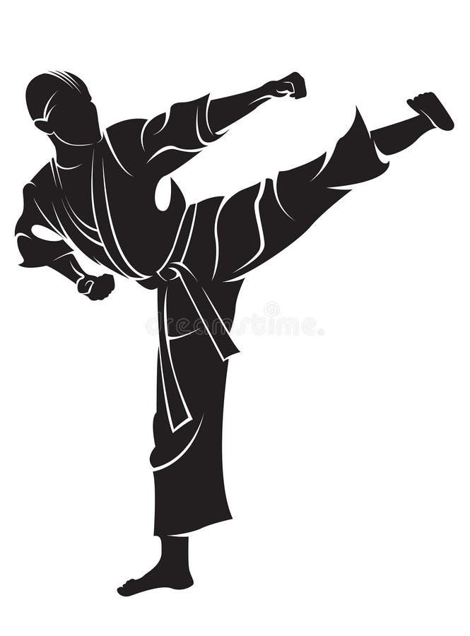Combattant de karaté illustration libre de droits