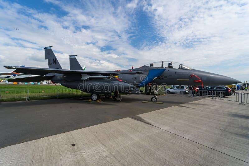 Combattant polyvalent, grève Eagle de McDonnell Douglas F-15E de combattant de grève L'Armée de l'Air d'USA photos stock