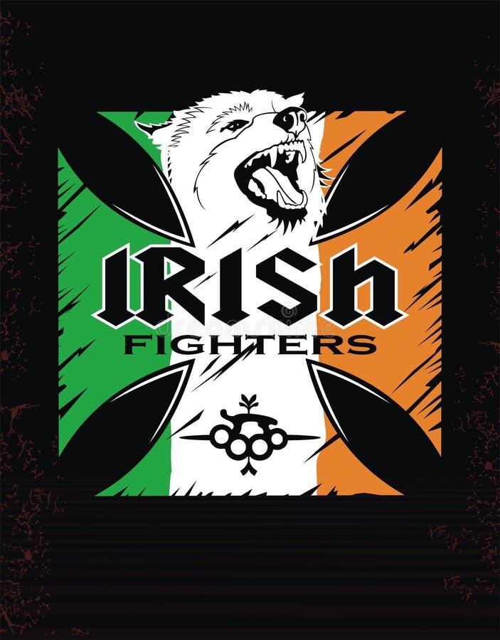 Combattants d'Irlandais de calibre illustration de vecteur
