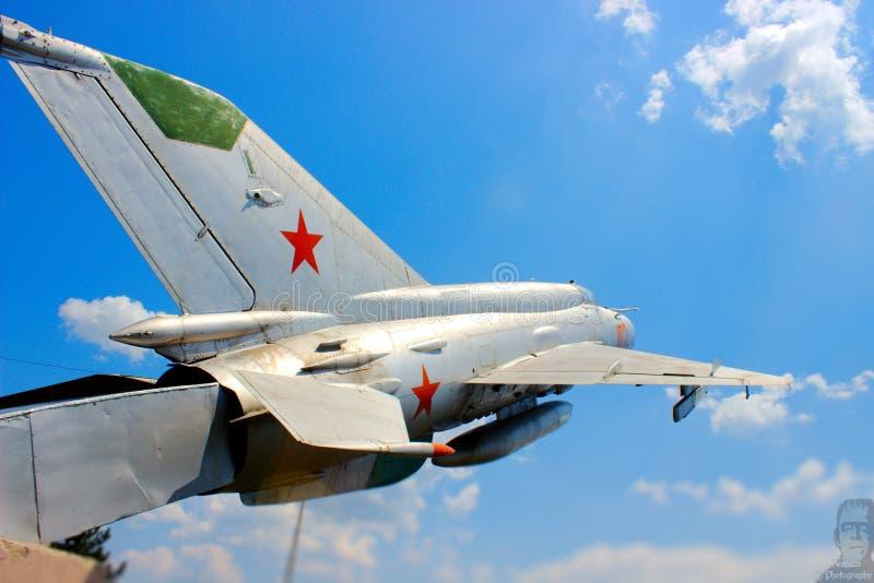 Combattente bulgaro dell'aeronautica MIG immagine stock