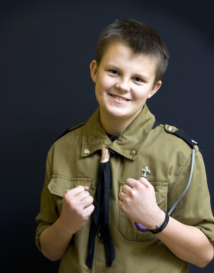 Combattente dell'esploratore di ragazzo immagine stock libera da diritti