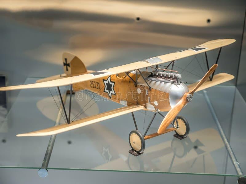Combattente di Austro-ungarico Albatros Oeffag DIII fotografie stock